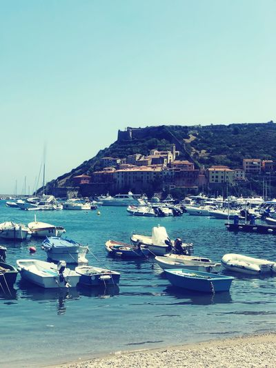Staring at the sea, staring at the sand Italian Landscapes Summer Boats Seaview Sea Transportation Water Sky Day Outdoors Beach Clear Sky