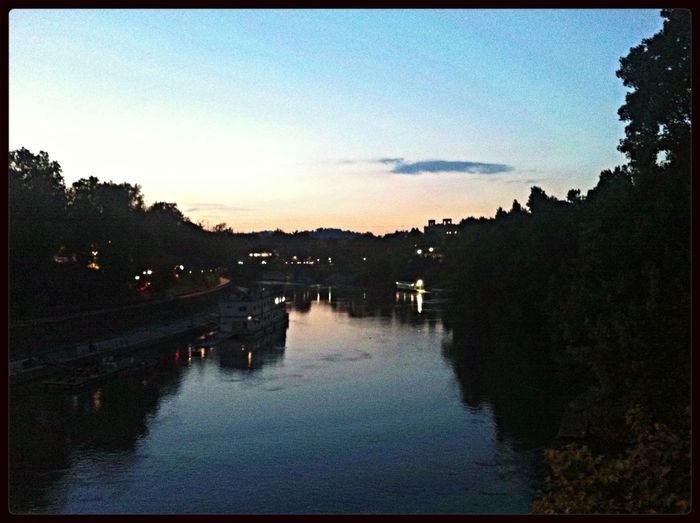 The Tiber Rome River Sunset