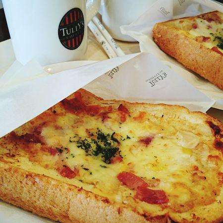 食べもの Foods Food Tully's Coffee タリーズコーヒー タリーズ Tully's Coffee ☕ Coffee Coffee Time Coffee Break Toast🍞 Toasted Bread