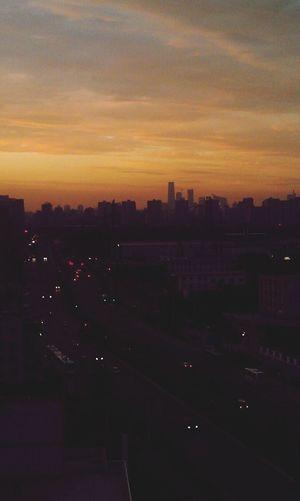 Beijing Nightfall Enjoying The View Home