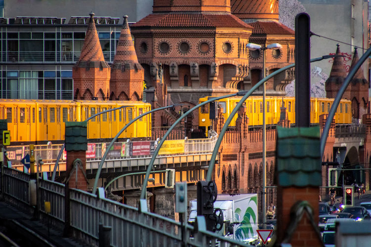 #urbanana: The Urban Playground Friedrichshain Oberbaumbrücke U-Bahn Underground Architecture Bridge Bridge - Man Made Structure Building Building Exterior Built Structure City City Life Connection Day Famous Place Mode Of Transportation Motion No People Outdoors Subway Train Transportation Travel Travel Destinations Water Summer In The City