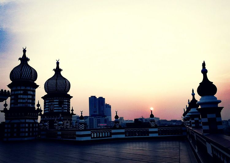 Beauty of Red Mosque Architecture Sunset No People Sky Rooftop City Rooftop Photography Rooftop Sunset