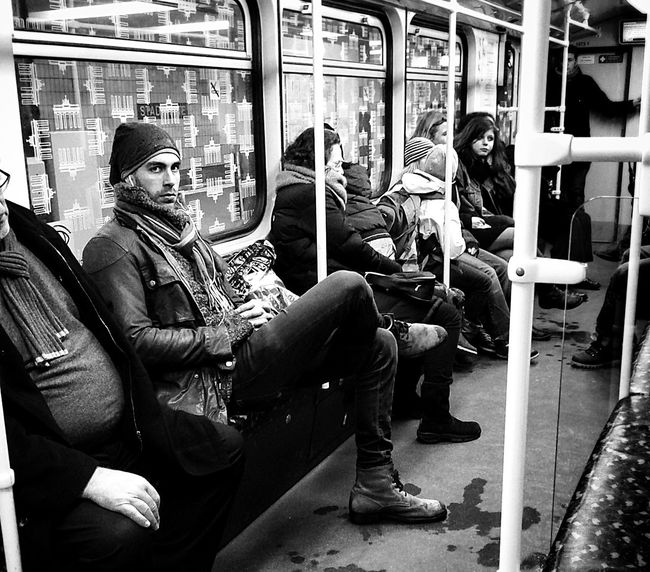 Blackandwhite Subway People Taking Photos Of Hipsters Peoplephotography