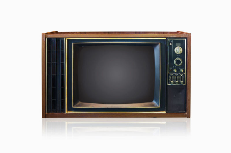 Old analog TV system. Isolated on white. Tv Old Set Retro Screen Frame Backgrounds Button White Media Video Medium Style Watching Broadcasting Isolated Square Nobody View Brown Blank Visual Television Show History Obsolete Tuner Clipping Revival Communications Shape Wave Equipment Receiver Cathode Object Wood Front Electrical Old-fashioned Retro-styled Knob Antique Ancient Path Grunge Single Grainy
