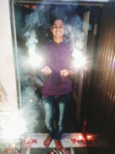 Enjoying diwali