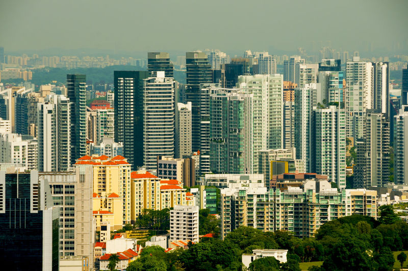 Buildings in the City of Singapore Singapore City Building Building Exterior Cityscape Architecture