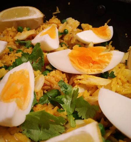 My kind of Kedgeree... Food Photography Foodblogday2015 Foodstagram Food Blogger Kedgeree Smoked Fish Boiled Eggs Basmati Rice Indian Spices