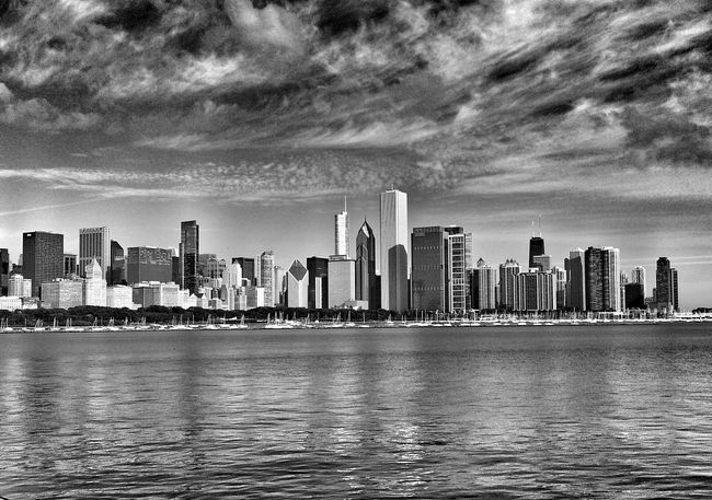 Chicago skyline Chicago Downtown Chicago Skyline Chicago Skyline Chicago Architecture EyeEm Best Shots - Landscape Landscape_Collection Landscape Scenic Eye4photography  Black And White Photography Landscape_photography Cityscapes Lakefront Chicago Illinois Scenics Landmark Scenic Landscapes Landscapes America City Life Cityscape Sheddaquarium Black And White Black & White
