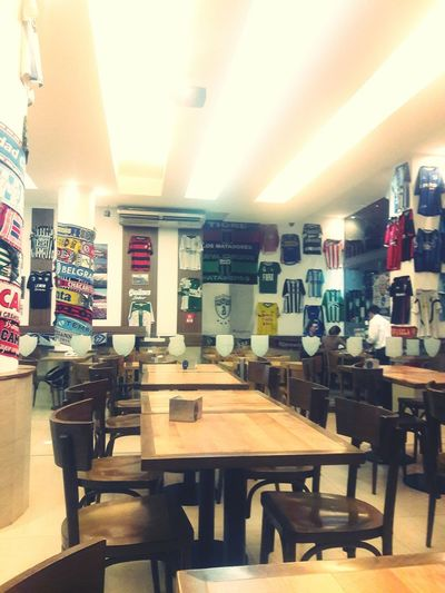 Cafe Indoors  Chair Store Table Business Finance And Industry No People Architecture Day Lizz Monalisa Simplicity Argentina City Life Relax Futbol Soccer Camisetas Equipos Sports Pasión  Beer Ciudaddelafuria Buenos Aires