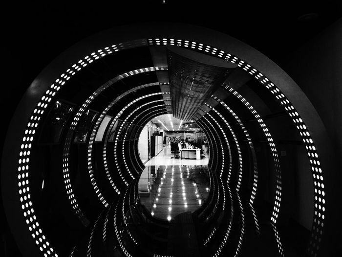 Time Tunnel Architecture IPhone Photography Black And White