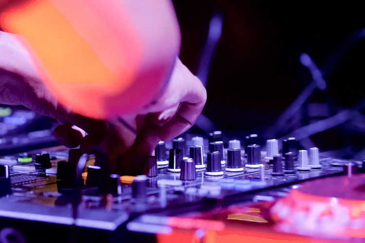 Adult Arts Culture And Entertainment Close-up Club Dj Dj Human Body Part Human Hand Indoors  Men Mixing Music Musical Instrument Night Nightclub Nightlife Occupation One Person People Real People Sound Mixer Analogue Sound