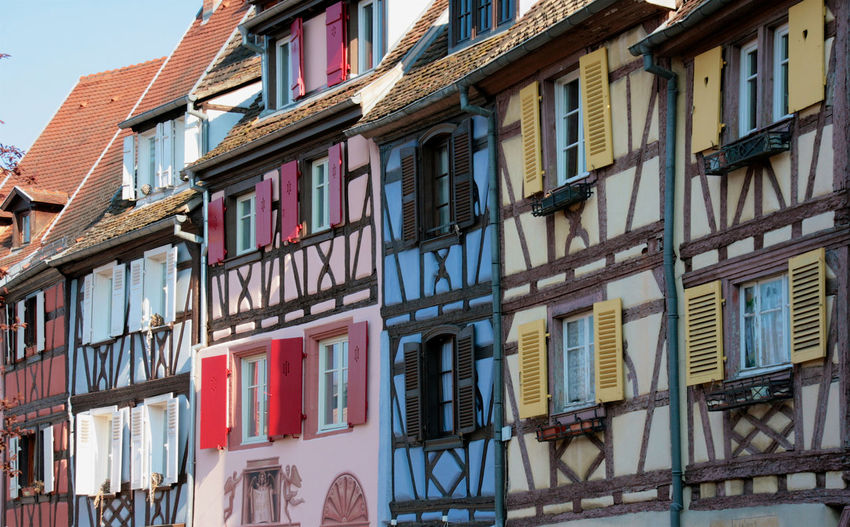Beautiful half timbered houses in the oldtown of colmar, a city in the french region of alsace
