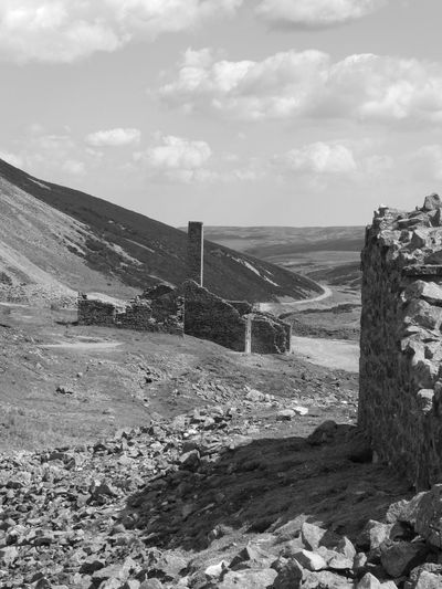 Old Gang Smelt Mill Blackandwhite Black And White Black & White Blackandwhite Photography Black And White Photography Eyem Best Shots Nature_collection Eyemphotography EyeEm Nature Lover Copy Space Lead Mining Old Gang Smelt Mill Swaledale Sky Sea Water Land Beach Cloud - Sky Nature Beauty In Nature Tranquil Scene