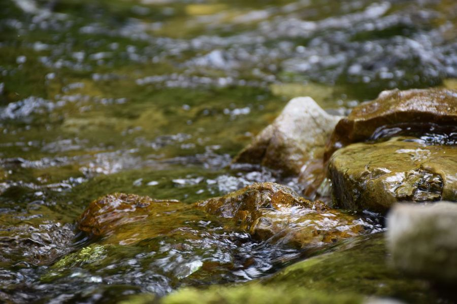 Close-up Fresh Nature Nature Photography Non Urban Scene Outdoors Rock - Object Selective Focus Small Rocks In Water Warm Day Water
