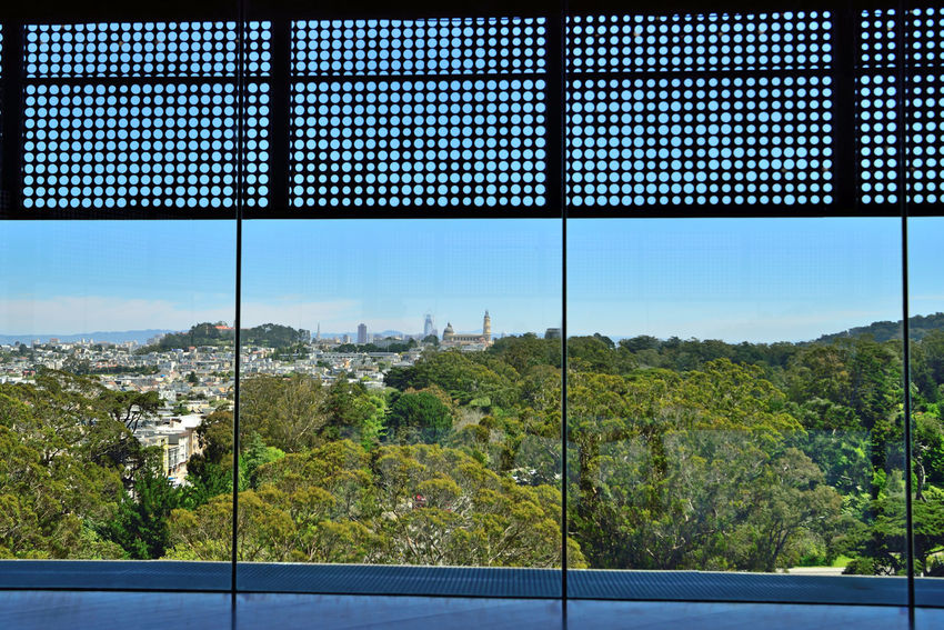 DeYoung Museum _ Observation Tower 6 San Francisco CA🇺🇸 Golden Gate Park 144 Ft. Observation Tower New Building  Built 2005 Replaced 1895 Original Building Damaged By 1989 Loma Prieta Earthquake Architecture Modern Architectural Detail Exterior : Perforated & Dimpled Copper Plates Architects: Jacques Herzog,Pierre De Meuron,Fong + Chan Observation Deck 8th Flr Scenic Lookout Cityscape Vistas Panoramic Views Landscape Nature In The City Marin Headlands Park View!