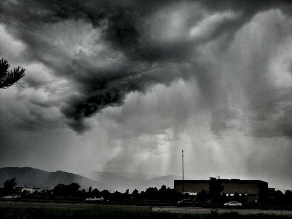 Colorado Springs, Colorado. Black And White Nature Cloudporn Landscape