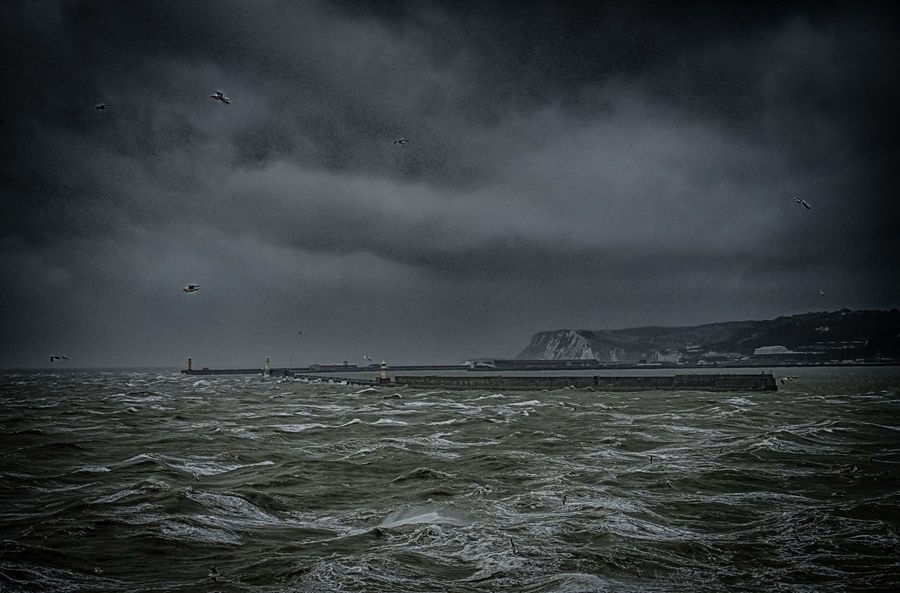 scary sea Dover Dover Harbor EyeEm Best Edits EyeEm Best Shots EyeEm Gallery HDR Hdr Edit Hdr_Collection Scary Sky Sea And Sky Seascape Seaside Storm Cloud Stormy Weather Weather White Cliffs Of Dover