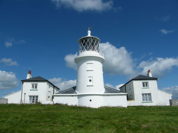 Architecture Building Exterior Built Structure Caldey Island Caldey Island Lighthouse Cloud - Sky Day Grass Lighthouse Low Angle View Nature No People Outdoors Pembrokeshire Pembrokeshire Coast Sky Whitewashed
