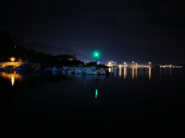 The harbour at night HUAWEI Photo Award: After Dark Water City Illuminated Sea Nautical Vessel Nightlife Beach Arts Culture And Entertainment Lightning Reflection Entertainment Harbor Neon Sparks Lantern Boat Marina Dock