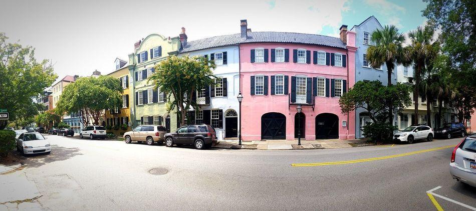 Rainbow Row Panoramic Charleston First Eyeem Photo