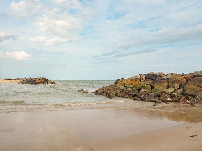 Saengchan Beach Beach Sea Sand Nature Cloud - Sky Outdoors Day Rayong S Saengchan Beach