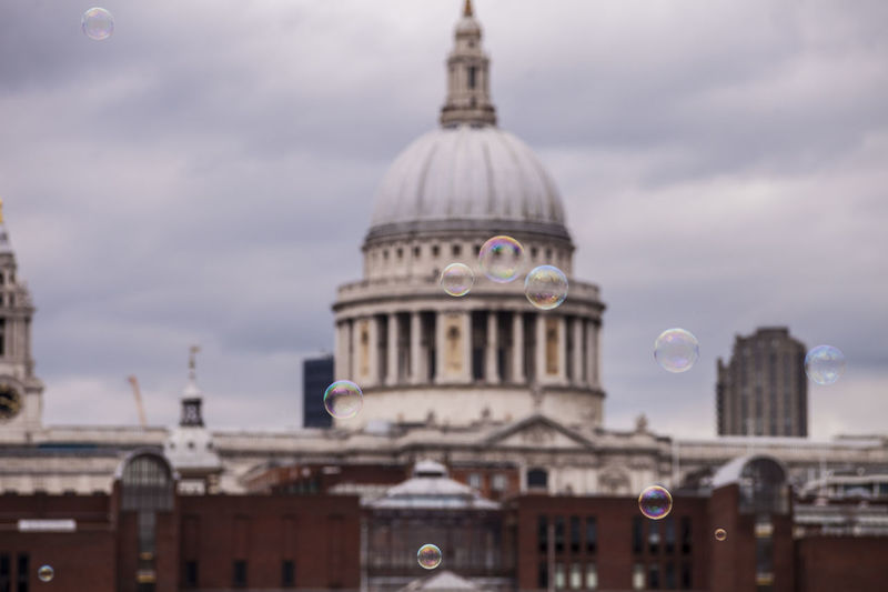 Architecture Blurred Background Bubbles Building Exterior Built Structure City Close-up Cloud - Sky Day Dome Government London LONDON❤ No People Outdoors Sky St Paul's Cathedral St Pauls Cathedral Travel Destinations