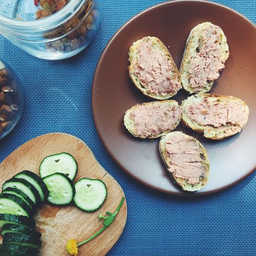 Plate in the bread and cucumbers Pate Bread Cucumber Vegetables Food Cook  Foodblog Nuts