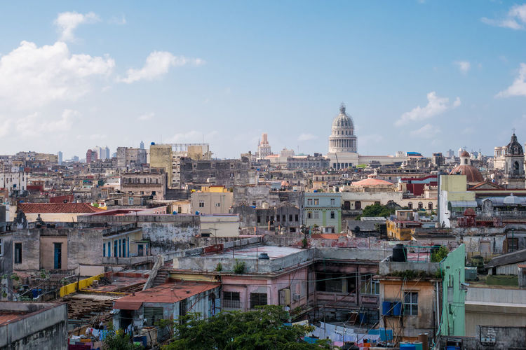 Cuba Havana Architecture Building Exterior Built Structure City Cityscape Cloud - Sky Day El Capitolio  Outdoors Residential  Residential Building Sky Town Travel Destinations