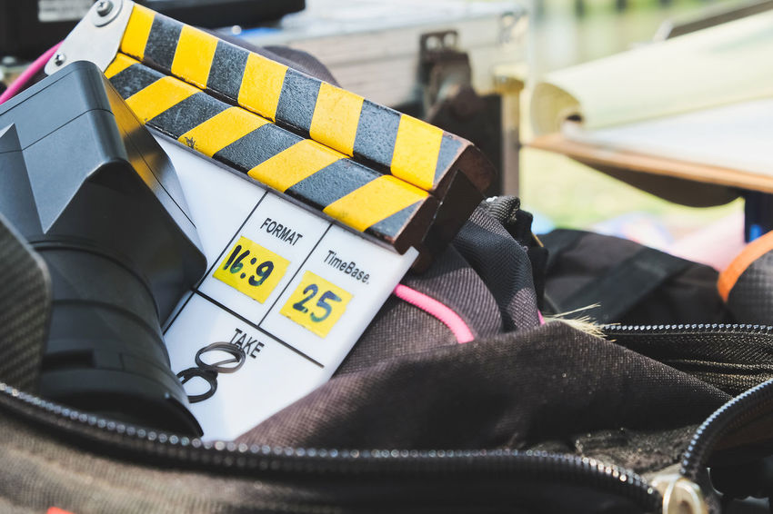 Film Equipment Filming Studio Broadcasting Clapper Board Entertainment Entertainment Occupation Film Industry Film Slate Filming Location Movie Slate Slate Studio Shoot