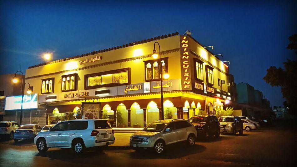 Indianresto Restaurant riyadh Cityscapes nightphoto smartphonephoto Golden Moments  43 Golden Moments