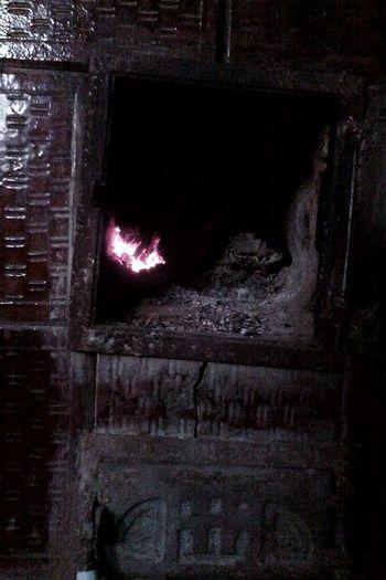 Old Chimney Buring Fire Lugs Wood Eyeem Market Wolfzuachis Closeup