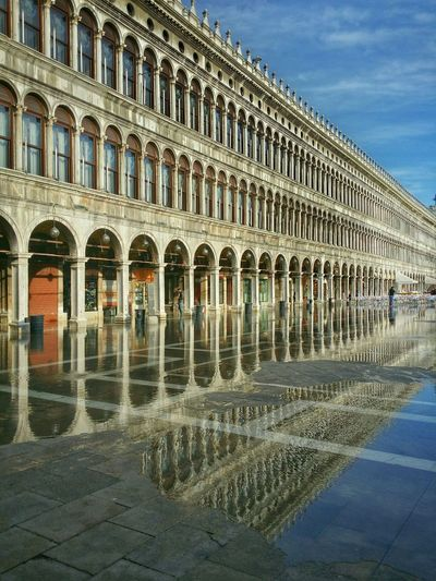 Early Morning Walks Venice, Italy Showcase: December Water Reflections Rising Tide St. Mark's Square Architecture Architectural Photography Leading Lines Vanishing Point Endless Arcades