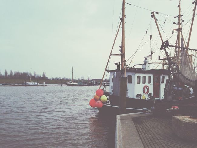 Fresh Air Harbour Fishing Boat Northsea Ostfriesland Nordsee