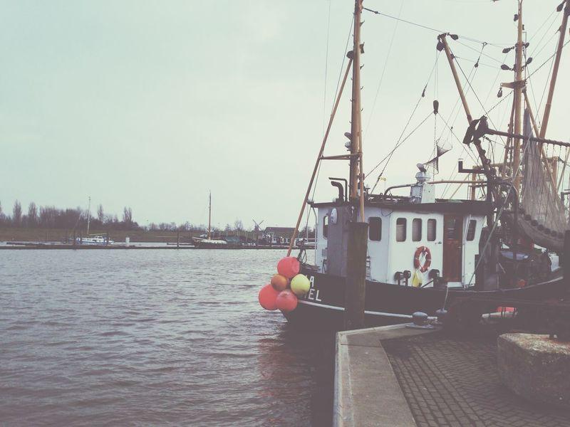 Fresh Air Harbour Fishing Boat Northsea Ostfriesland Nordsee