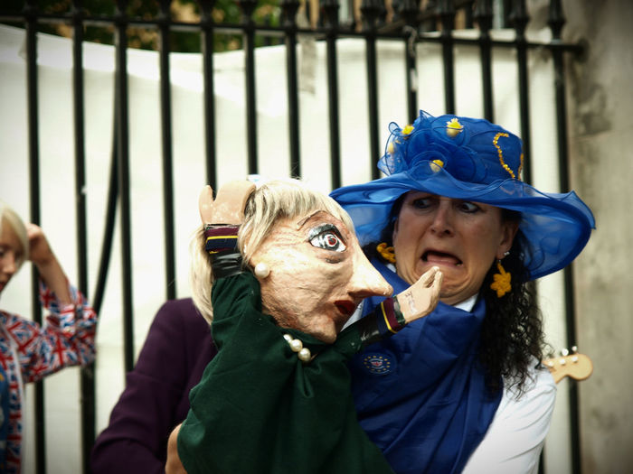 Theresa May Puppet at the Stop Brexit-We Only Want To Be With EU vigil. 23-06-2017 Anti BREXIT protest opposite Downing Street. Whitehall, London #no10vigil. #vigilagainstbrexit #no10vigil #vigilagainstbrexit #weonlywanttobewitheu Brexit Brexit Protest Downing Street London News Muppet Photojournalism Prime Minister Prime Minister's Office Protest Pupeteer Puppet Steve Merrick Stevesevilempire Stop Brexit Theresa May We Only Want To Be With EU