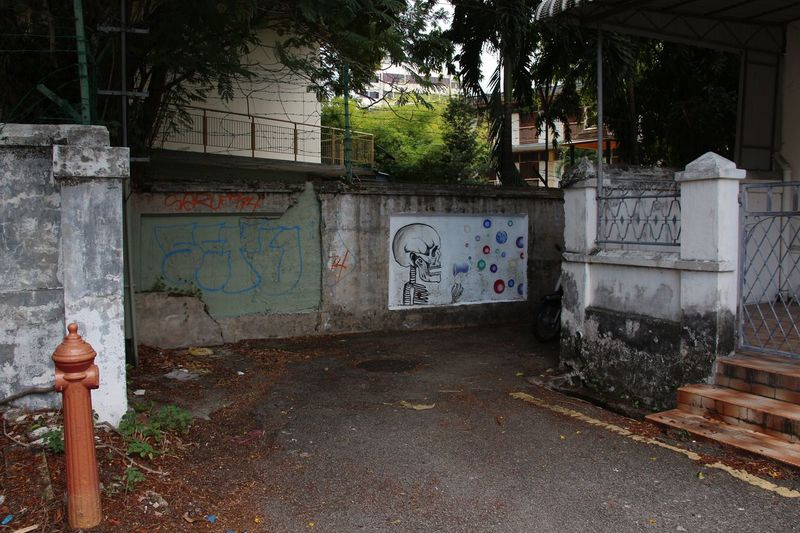 Wall Art Urban Art Street Art Street Photography Grunge in Georgetown Penang Malaysia South East Asia World Heritage