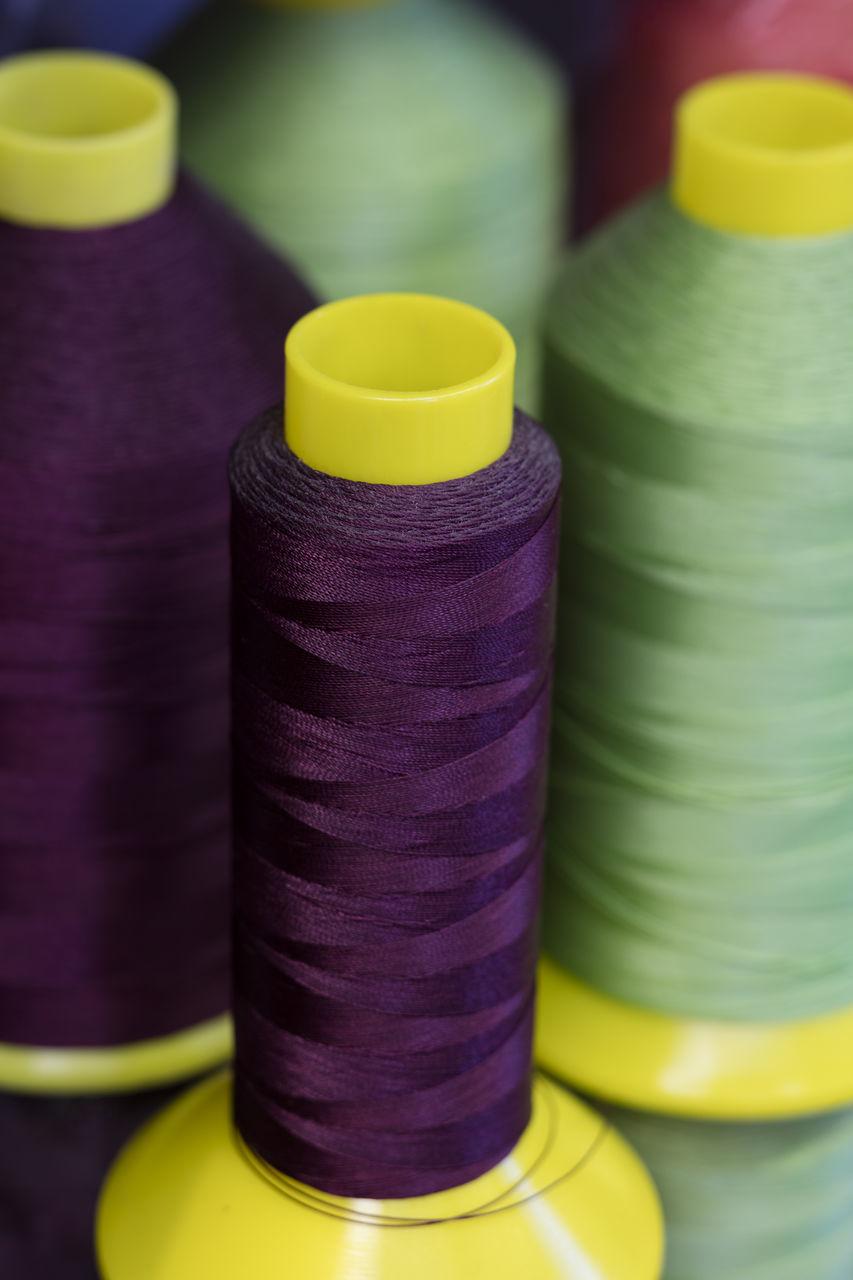 Close-Up Of Thread Spools