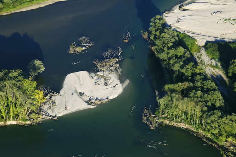 Aerial photo of the erosion on the drava river