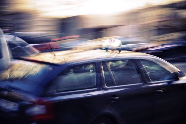 Taxi traffic Rush Hour Paris