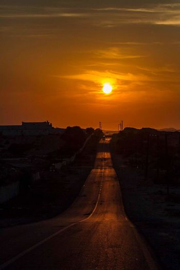 Sunset Travel Orange Color The Way Forward Road Landscape Winding Road Outdoors Travel Destinations Beauty In Nature No People Inspiration Canon7d  Misrata Libya