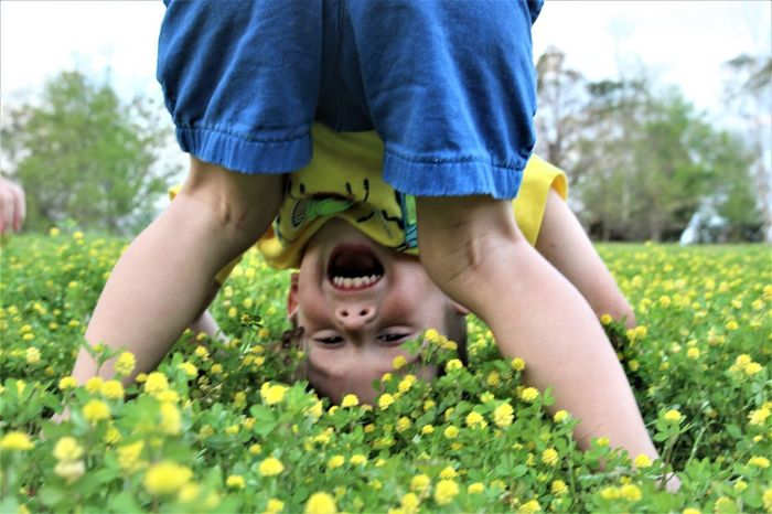 Boy Flowers Fun Laughing One Boy One Boy Only Playing Silly Spring Toddler  Toddler Boy Yellow The Portraitist - 2017 EyeEm Awards Mix Yourself A Good Time Paint The Town Yellow Visual Creativity