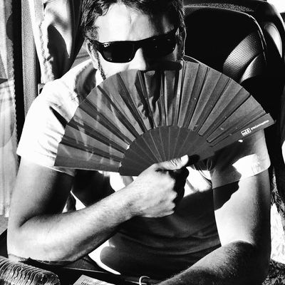 Raúl con abanico Blackandwhite Black And White Monochrome Bw_collection EyeEm Best Shots Movilgrafias People