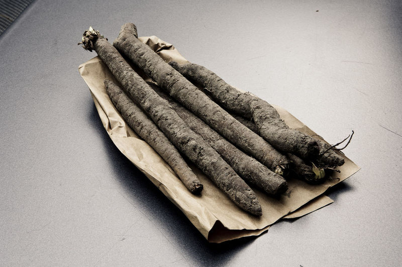 Black salsify Black Salsify Food Food And Drink Freshness Healthy Healthy Eating Healthy Food Healthy Lifestyle No People Plant Salsify Schwarzwurzel Table Vegetable