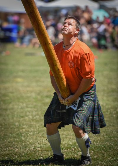 Highland Games Highland Games And Festival One Person One Man Only Sport Sportsman Men