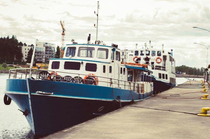 Relaxing Taking Photos Enjoying Life City Cityscapes Quai Ship River Sea And Sky Summer