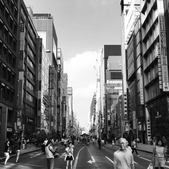 City Street Ginza Tokyo Japan Black And White Battle Of The Cities
