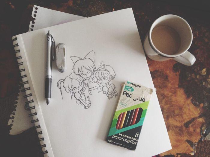 Work In Progress Powerpuffgirls Sketch Art drawing Coffee