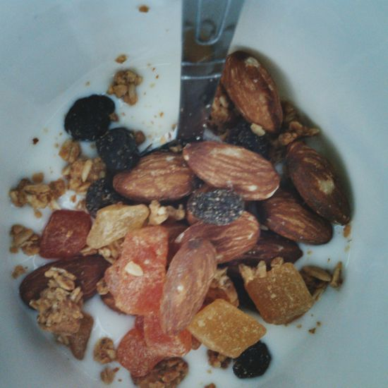 No People Directly Above Indoors  Food Close-up Day Freshness Breakfast Is Served Breakfast Food Yoghurt With Fruit Healthyeating Healthy Diet Healthy Snack Healthychoices Healthy Breakfast Photography Nuts, Almonds, Seeds, Pumpkin Seeds, Hazelnuts, Nutshell Nuts_about_squirrels
