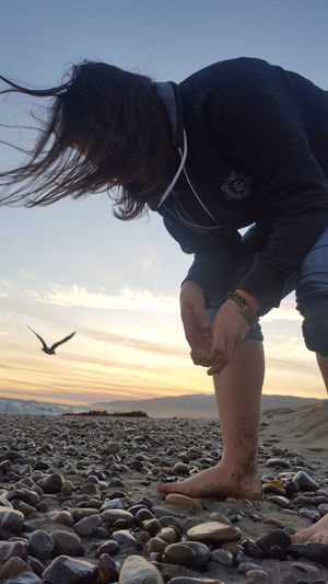 Beachphotography Feel The Journey Collecting Rocks Bird Whisperer Original Experience Beautiful Soul Paint The Town Yellow