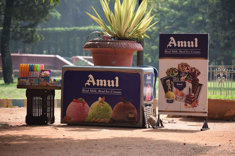 Day Lalbhag Amul Icecream🍦 Text No People Sign Food Retail  Outdoors Focus On Foreground Retail Display Food And Drink Communication Amul Icecream
